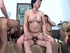Curvy mature women fuck at European swinger party