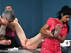 Needle torture of her submissive pussy