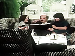 Vintage German group sex with brunette in boots