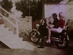 Straight - Leather chaps biker in bondage (retro - no sound)