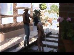 Master kicking his slave