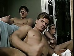 Five Friends Watch Each Other Jerk Off and Cum
