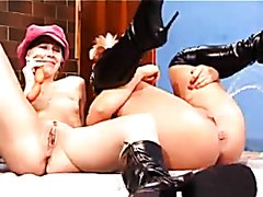 Cute blond lesbians pissing on each other