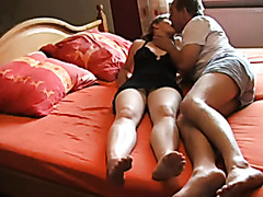 Erotic homemade video with horny mature couple