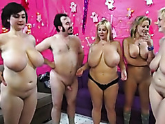 Group of sluts screw in live sex show