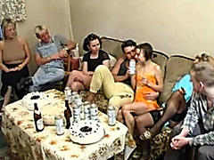 Food fight and messy fucking at wild German party
