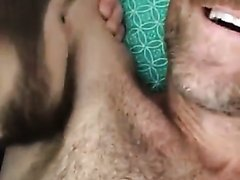 Hairy hunk gets armpits eaten and sniffed