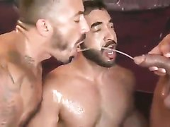 3 Hot Latinos Drink Each Other's Piss