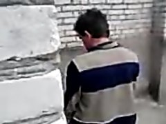 Drunk Russian pissing