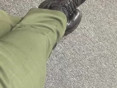 Candid Video Cop's Boots