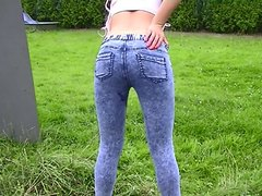 Shitting Tight Jeans