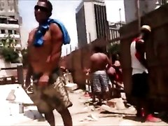 Guys pissing at the Brazlian Carnaval