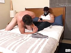 Slave serving his master