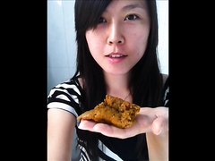 Hot Chinese Girl Eats Her Shit - 4