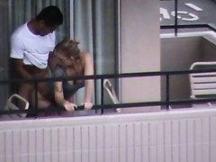 Straight Sex on the Balcony