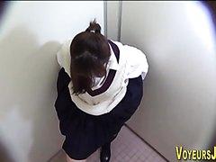 Hidden cam - Teen  Peeing and Masturbating In Toilet  2