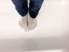 wet socks boy