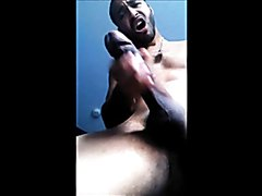 Standing Stud Shoots Huge Load from Big Cock
