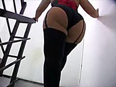 BBW in his garage wants cock in her cunt
