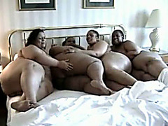 Big black women in lesbian orgy with hot cunt licking