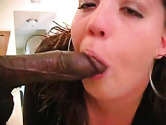 POV interracial sex with cock loving white girl