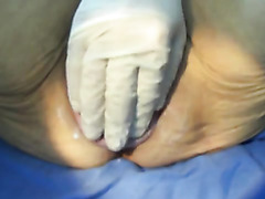 Prolapsed mature vagina played with by husband