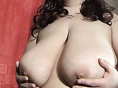 BBW is proud of her big natural breasts