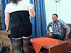 BBW gives up her pussy to get the job