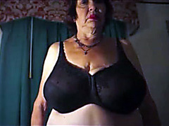 Fat mature poses for photos and solo video