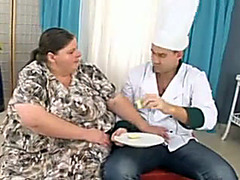 Fat cocksucker fucked in her slippery cunt