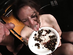 Messy porn compilation with bodily fluids and food