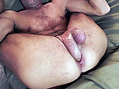 Self anal creampie with naked amateur guy