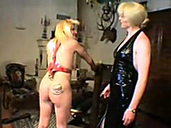 Vagina sewed shut in kinky femdom video