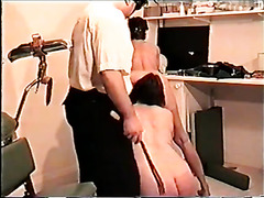 Vintage BDSM with spanking and pussy pain