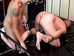 Kinky hubby fisted by his naughty wife