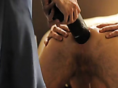Rough and deep dildo anal with husband