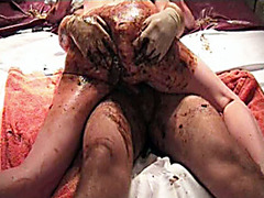 Messy scat sex with amateur couple