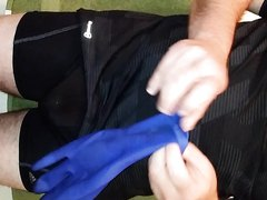 Putting on Biogel Surgical Gloves