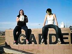 Amateur Girls Puking at a public park (2)