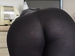 Girl farting in tights