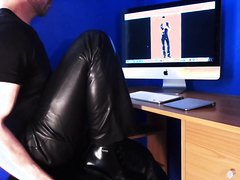 Leather pants Farts (very short clip and no sex)