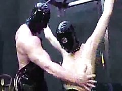 Muscled bodybuilder female domination and fist