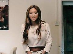 Natalia pissed her white jeans