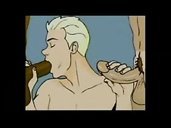 Very hot retro gay cartoon