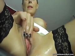 Milf Masturbates And Pees