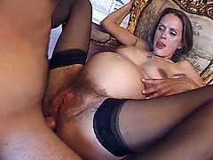 Tight asshole of pregnant girl fucked