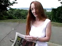 Amateur ginger eaten out and fucked hard