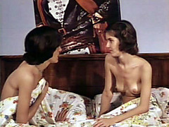 Vintage film with lesbian and hardcore fun