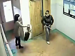 Security camera films girls peeing in public