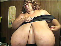Ebony webcam BBW has monstrously huge breasts